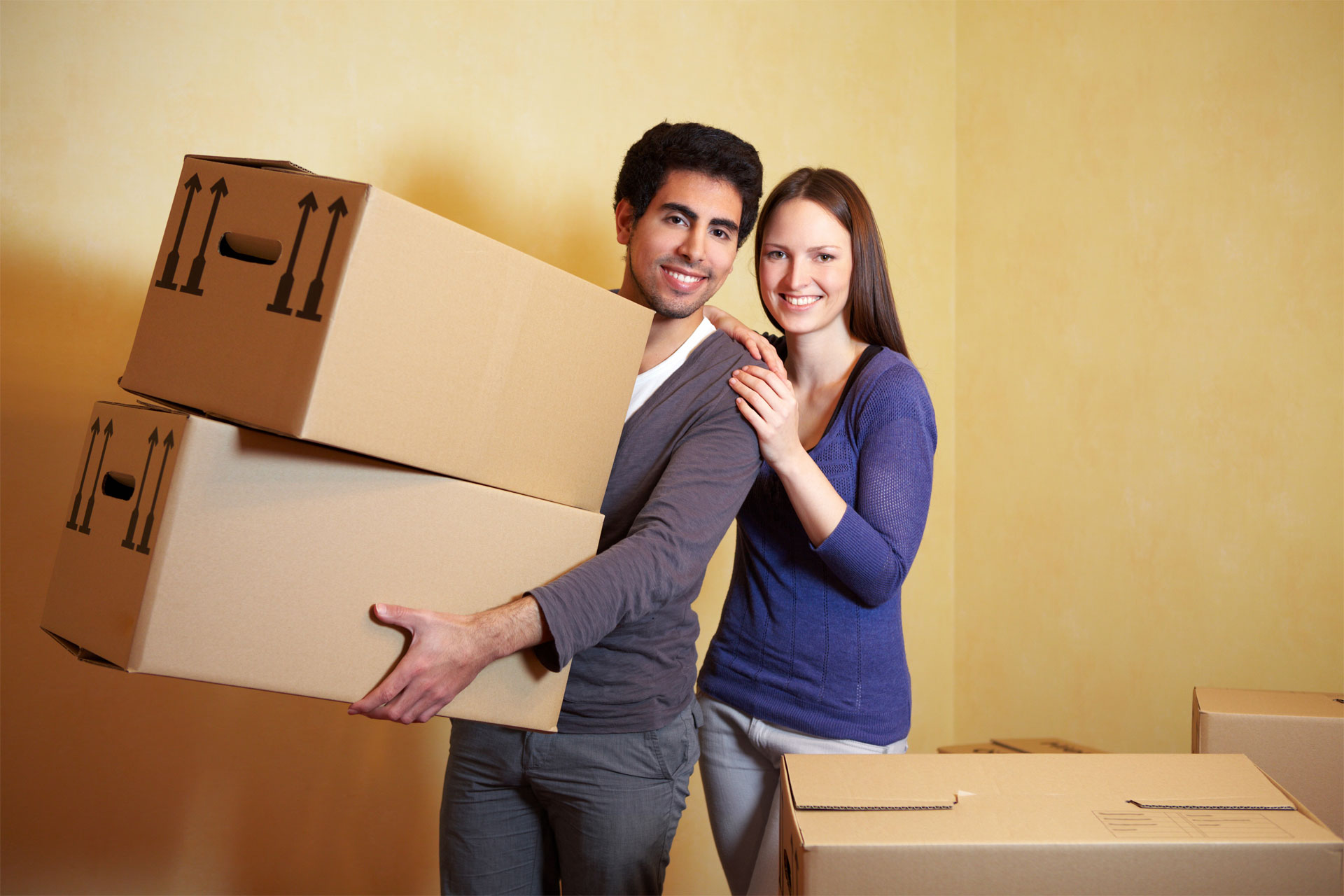 residential storage, couple, moving