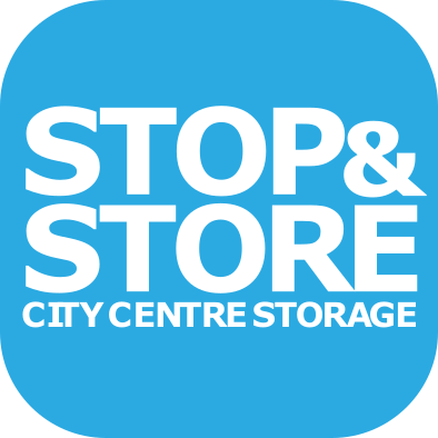 logo, stop and store
