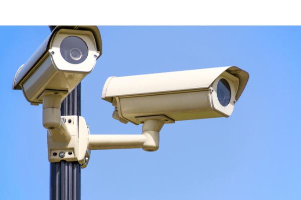 CCTV cameras on a pole