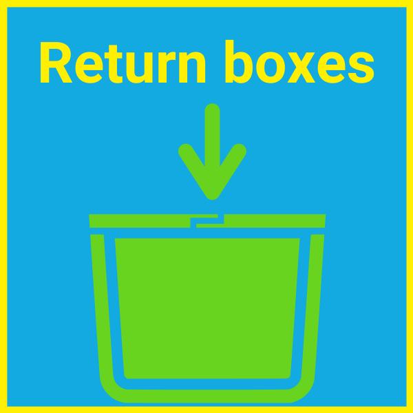 Return plastic moving boxes