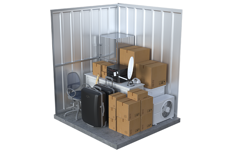 small office storage unit graphic