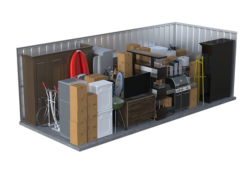 outdoor appliances storage unit graphic