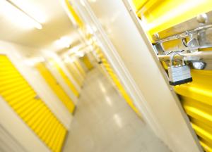 Corridor of a self storage facility