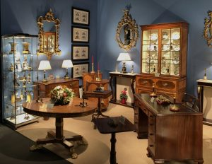 Room filled with Antique Furniture