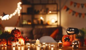 Halloween decorations and candles