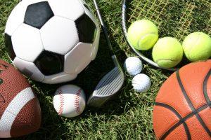 Various sporting equipment