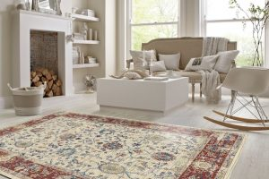Large rug in lounge room