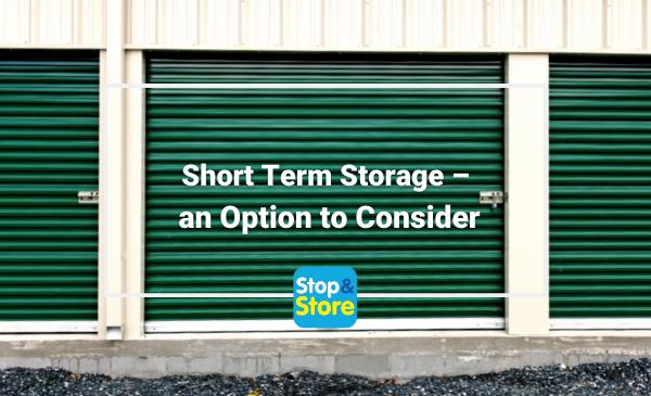 Short Term Storage – an Option to Consider Fareham Self Storage